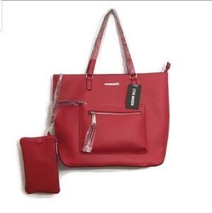 Steve Madden Large Red Tote